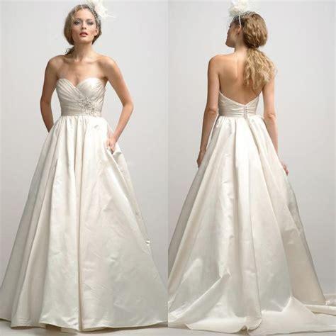 Taffeta Wedding Dress by Empire Sweetheart Embroidery A Line Chapel Taffeta