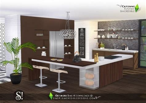 sims kitchen ideas cayenne kitchen at simcredible designs 4 187 sims 4 updates