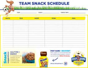 snack schedule template pin snack schedule template 1 on