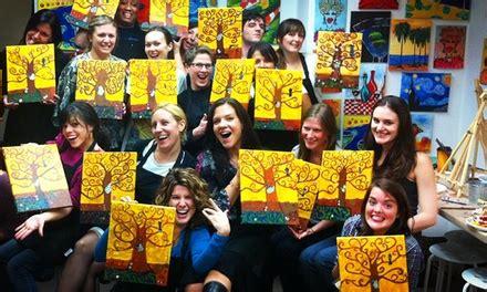 groupon paint nite byob byob canvas painting class plus studio groupon