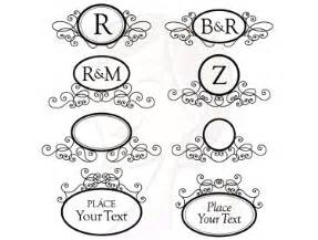 monogram digital frames clip art clip art diy engagement