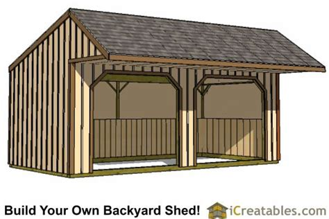 run  shed plans  cantilever run  shed