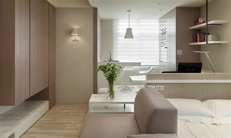 studio apartment design small living streamlined studio apartment