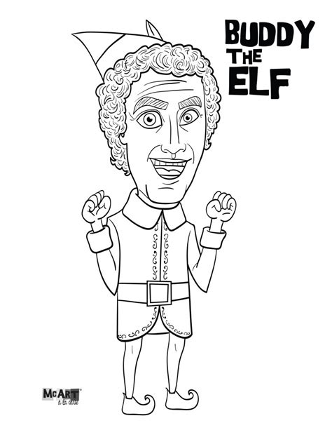 buddy the elf jovie coloring pages mcillustrator