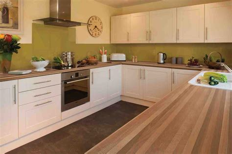 ideas for kitchen worktops kitchen design walnut worktop shaker cream gloss ideas