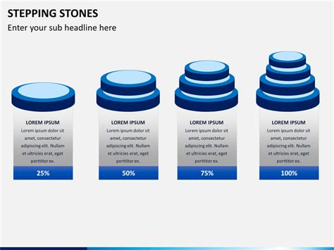 stepping stones powerpoint template sketchbubble