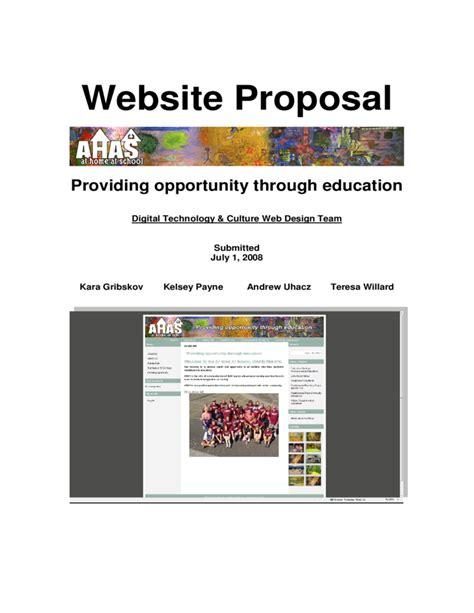 website design proposal pdf website proposal free download