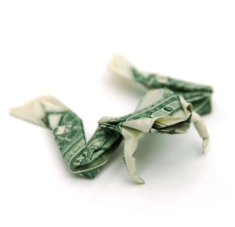 Origami Money Frog - dollar origami yatzer