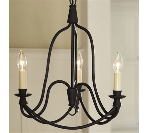 Pottery Barn Chandeliers Armonk 3 Arm Chandelier Pottery Barn