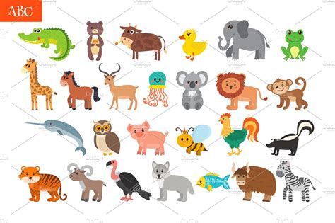 learn the alphabet learn abc with animal pictures teach your child to recognize the letters of the alphabet abcd for books abc animals alphabet graphics creative market