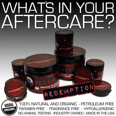 tattoo aftercare products redemption 174 care afterlife 174