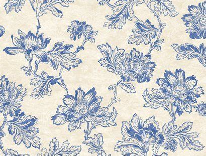 blue jacobean wallpaper wallpaper designer blue jacobean floral on cream faux with