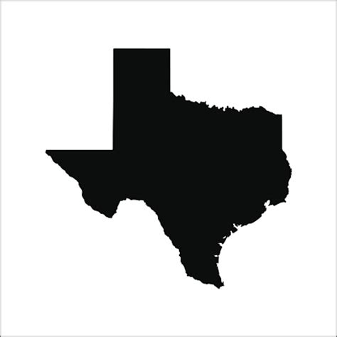 texas map vector us state border clip vector images illustrations istock