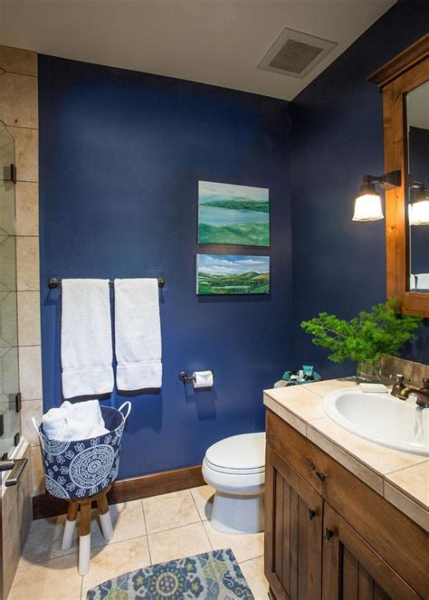 navy and white bathroom tiles home designs blue bathroom