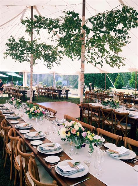 guelph tent and event rentals barn board harvest tables