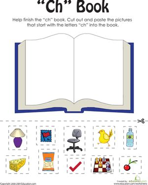 Ch Worksheets by Quot Ch Quot Words A Word Family Book Worksheet Education