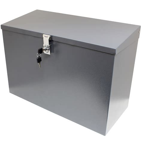 hardcastle large grey lockable letterbox parcel box home