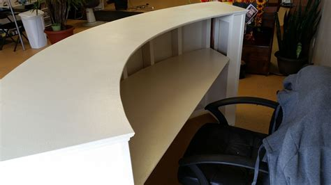 how to build a reception handyman how 2 building a round reception desk