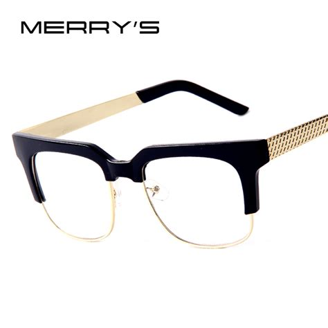 Big Frame Glasses 2016 new fashion optical big frame glasses gold metal