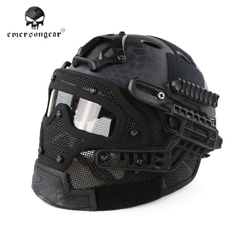 Emerson Airsoft Combat Mask emerson g4 system pj helmet with mask typ bd9197g 105 00 airsoft shop