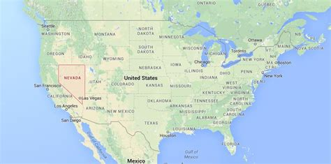 nevada on us map where is nevada on usa map