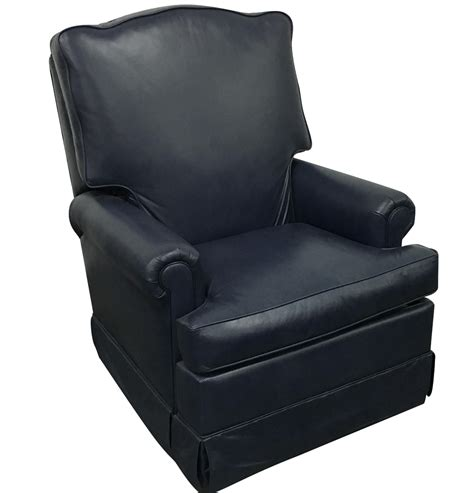 Navy Blue Recliner Navy Blue Swivel Recliner By Leathercraft Chairish