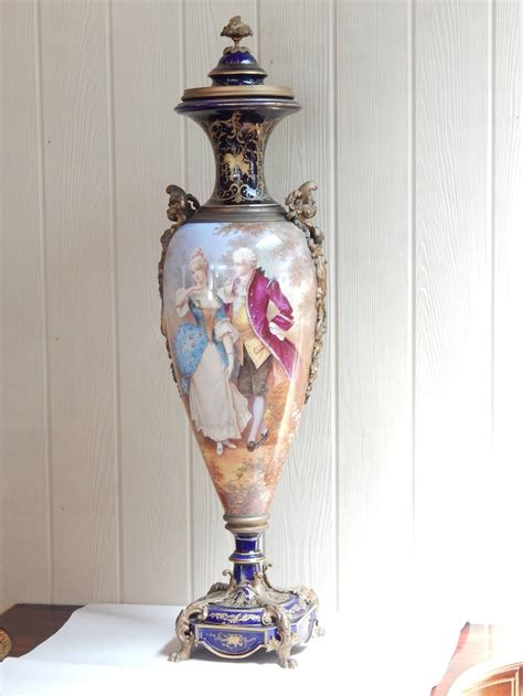 Sevres Vase by Large 41 Quot Bronze Mounted Sevres Covered Vase At 1stdibs