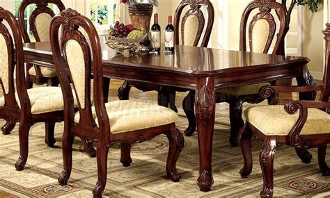formal cherry dining room sets formal dining room set w dark cherry finish and carving