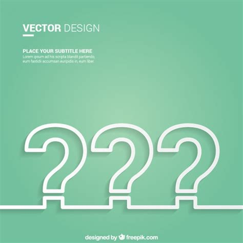 poster design questions question mark background vector free download