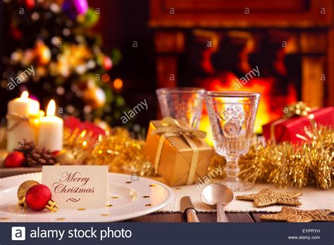 Christmas Dinner Table a romantic christmas dinner table setting with candles and