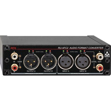 format audio radio rdl ru afc2 stereo audio format converter ru afc2 b h photo