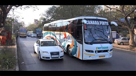 day night coverage   superb colourful volvo buses  mumbai india youtube