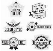 Retro Badges Logo Set Vector  Free Download
