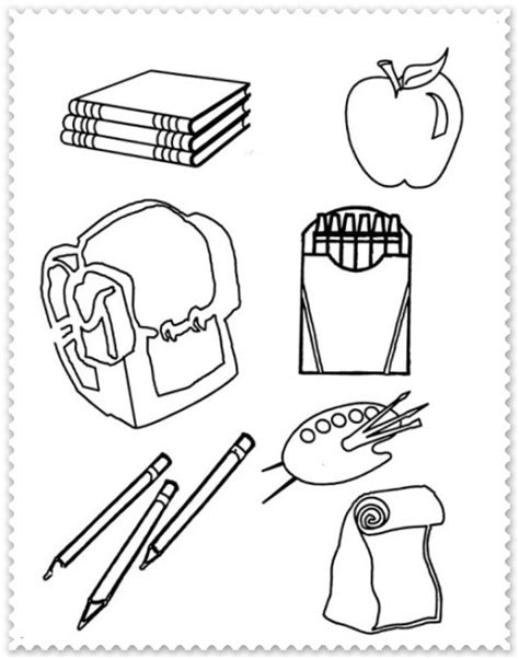 coloring page school things planse de colorat cu rechizite scolare