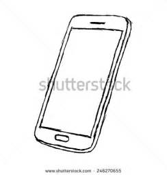 draw mobile mobile phone drawing stock images royalty free images