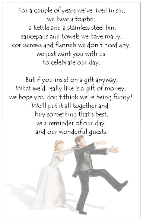 Wedding Wishes Poem by Honeymoon Fund Poem Wedding Poems For Bridal Some