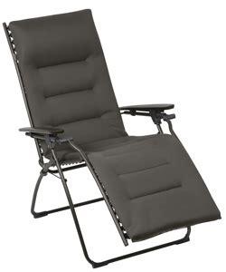 lafuma padded recliner lafuma recliner evolution air comfort acier padded
