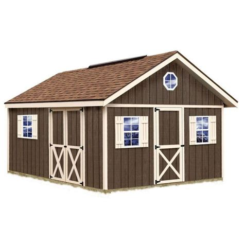 Wooden Storage Shed Kits by Best Barns Fairview 12 Ft X 16 Ft Wood Storage Shed Kit