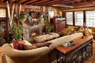 Rustic Log Home Decor by Rustic Christmas Decorating Ideas Canadian Log Homes
