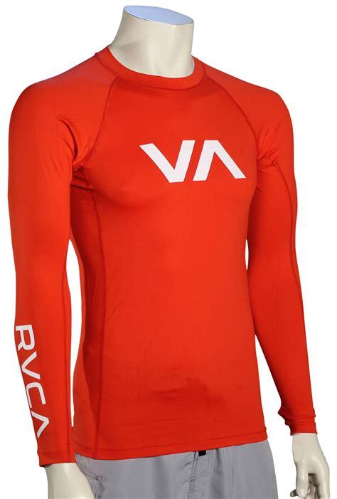 pictures of lava ls rvca va ls rash guard lava for sale at surfboards com
