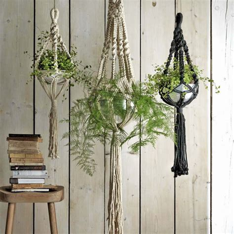 Macrame Patterns For Hanging Plants - macrame plant hangers decorative home accessories