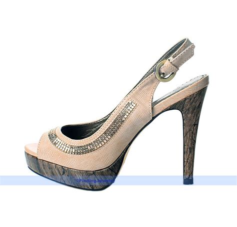 Open Toe High Heel Pumps beige pumps platform high heel open toe slingback shoes