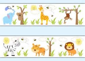 Wall Art Stickers Childrens Rooms safari jungle animal decal wallpaper border boy wall art