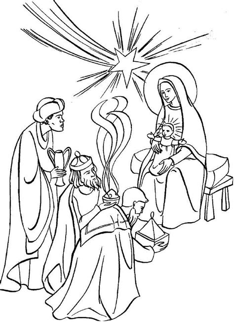 three wise men coloring page coloring home
