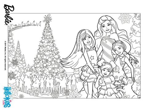 barbie s christmas coloring pages hellokids com