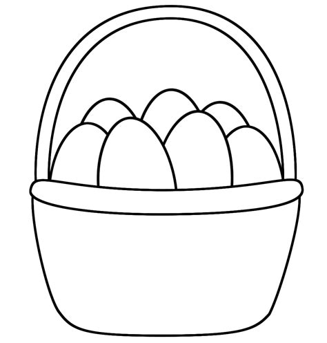 Easter Basket Coloring Page Easter Easter Basket Printable Coloring Pages