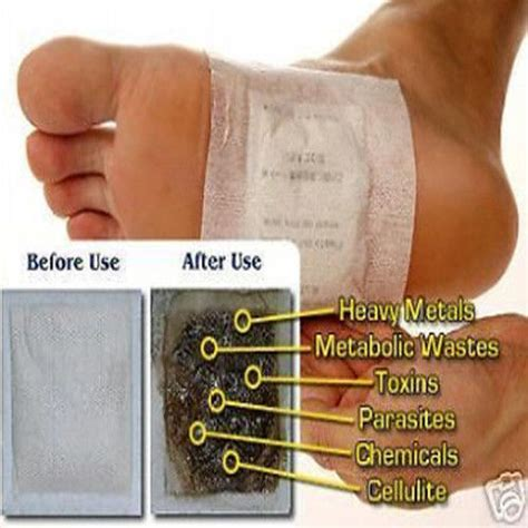 Detox Foot Pads Remove Toxins by 100 Patches Kinoki Detox Foot Pads Remove Toxins