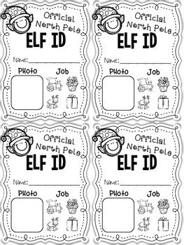 free printable elf application elf application elf id cards and editable letter from