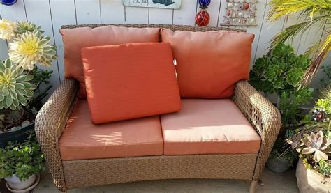 Rattan Patio Furniture Replacement Cushions Chairs Seating Martha Stewart Patio Furniture Cushions