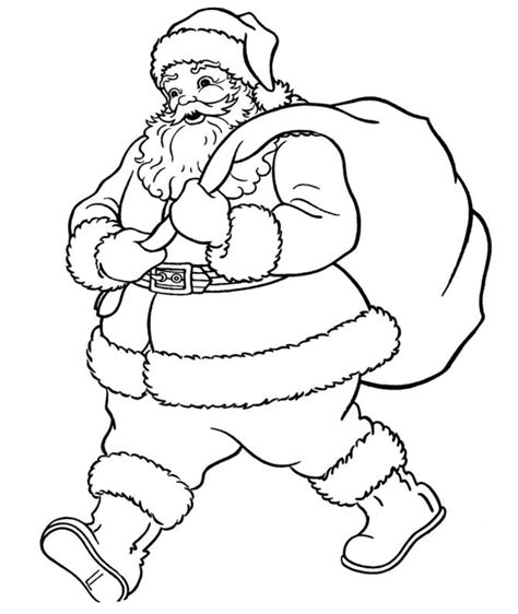 free coloring pages of santa claus to color